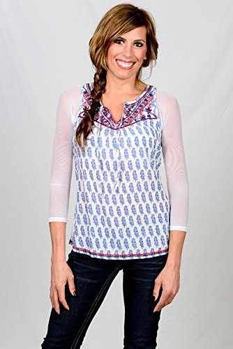 Sleevey Wonders Women's Basic 3/4 Length Slip-on Mesh Sleeves XL White by Sleevey Wonders (Image #5)