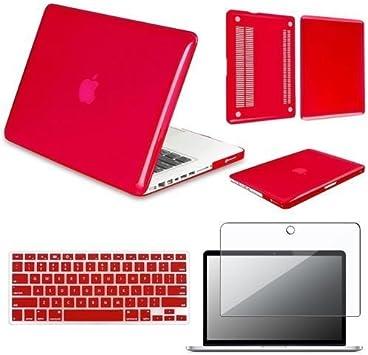 """PACK protección MacBook PRO 13.3"""" ROJO -carcasa + funda ..."""
