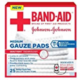 Johnson & Johnson, First Aid Medium Gauze Sterile Pads, (3 Inches X 3 Inches) - 25 Count (Pack of 3)