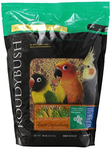 RoudyBush California Blend Bird Food, Mini, 10-Pound ()