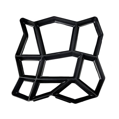 keebgyy Floor Mold Paving Mould, Irregular Shape Plastic Cement Concrete Path Maker Mold, Walking Path Paver for Garden Lawn Path : Garden & Outdoor