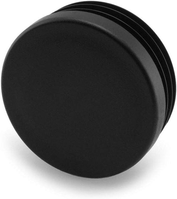 tapones cubiertas de polietileno de alta calidad Tapones de l/áminas redondos de Enkotrade Negro tapones de tubo redondos