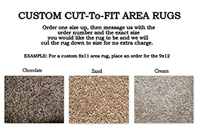 Custom Cut-to-Fit Area Rugs. Multiple colors to choose from. Great for homes, apartments or dorm rooms. Click for more details on custom sizing your rug