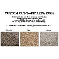 Custom Cut-to-Fit Area Rugs. Multiple colors to choose from. Great for homes, apartments or dorm rooms. Click for more details on custom sizing your rug (12x20, Sand)