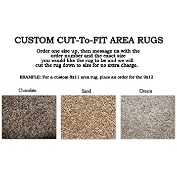 Amazon Com Custom Cut To Fit Area Rugs Multiple Colors To Choose