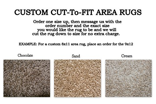 Sand 3x5 Area - Custom Cut-to-Fit Area Rugs. Multiple colors to choose from. Great for homes, apartments or dorm rooms. Click for more details on custom sizing your rug (3'x5', Sand)