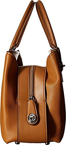Saddle COACH 34 Pebbled Womens Sv Brooklyn Carryall YwYAqO