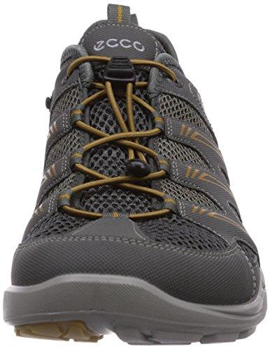 Ecco Terracruise Black/Black Syn/Tex/Deco 841034 - Sandalias para hombre Gris (DARK SHADOW/D.SHA/DRIED TOBACCO59926)
