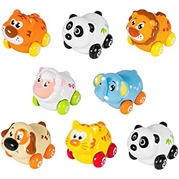 Best Choice Products Push & Go Friction Powered Animal Cars (Set of 8)