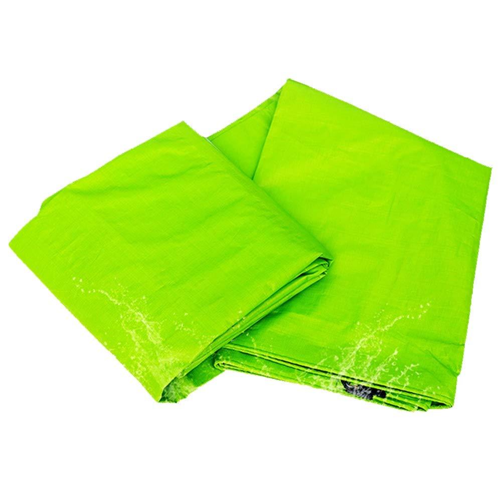 YANGJUN ターポリン 防水 日焼け止め 防雨 プラスチック シェード トラック アンチエイジング 厚い アウトドア、 0.33mm (色 : Green, サイズ さいず : 4.8x4.8m) 4.8x4.8m Green B07NT83ZX3