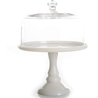 The Pioneer Woman Timeless Beauty 10  Milk White Glass Cake Stand (1)
