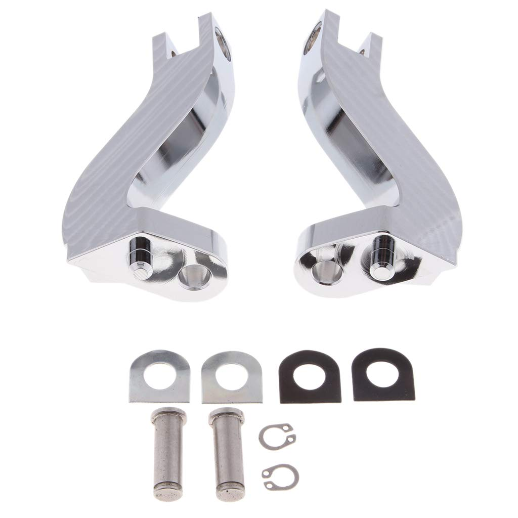 B Blesiya Motorcycle Chrome Metal Foot Peg Footpeg Mount Brackets for Harley Touring 1993-2016