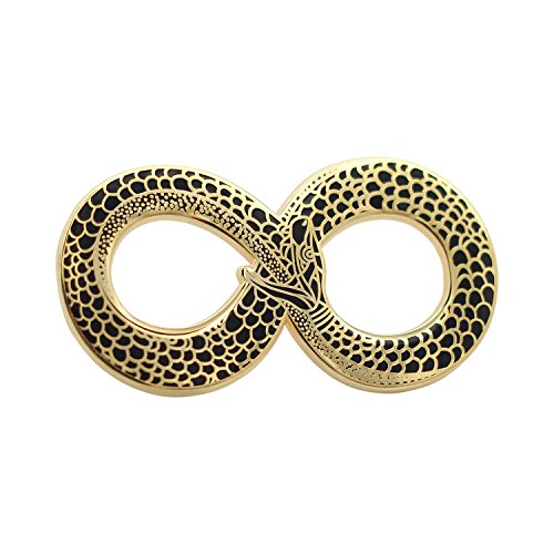 (Real Sic Occult Ouroboros Enamel Pin Black and Gold Snake Pin - Halloween Lapel Pin for Jackets, Backpacks, Bags, Hats & Tops)