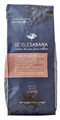 Specialty Coffee Roblesabana Costa Rica Microlot Tarrazu Sun Dried Medium Roast (12oz whole bean)