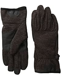 Men's Ribbed-Knit Wool-Blend Glove with Touchscreen Technology