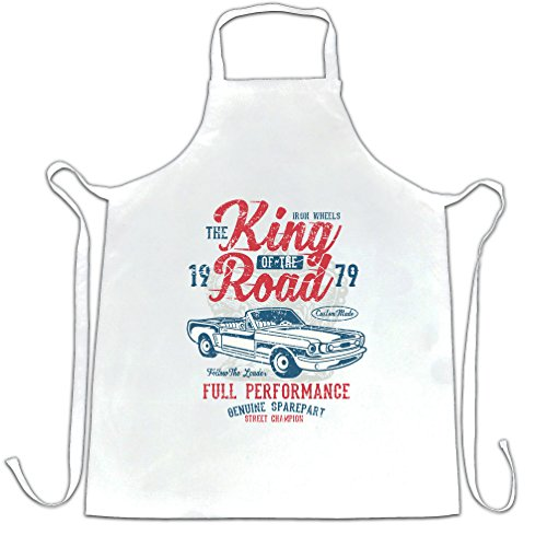 Vintage Apron Cook King Of The Road Car Racing 1979 Motor Distressed - Racing Ap Shop