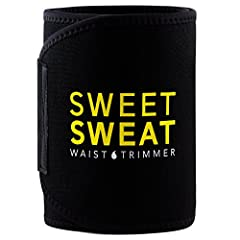 """SIZING Large (Fits waist up to 44"""") Medium (Fits waist up to 38"""") Small (Fits waist up to 33"""")Flexible Custom Fit For Exercising The Sweet Sweat Waist Trimmer was designed to be worn during exercise. The trimmers contoured fit and flexible ne..."""
