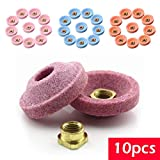 Xucus DSPIAE Abrasive Tools 30mm Grinding Wheel Cup Surface Polishing For Air Micro Grinder Abrasive Disc For Electrical 10Pcs 2019