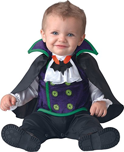 [UHC Boy's Count Cutie Infant Toddler Vampire Theme Fancy Dress Halloween Costume, 12-18M] (Vampire Costumes For Babies)