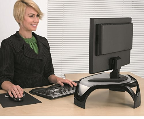 Fellowes Smart Suites Supporto Monitor Schermo Piatto Nero//Trasparente