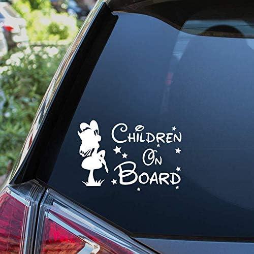 CHILDREN ON BOARD Car Sticker Child Kids Warning Safety Vehicle Sign Vinyl Window Bumper Decal