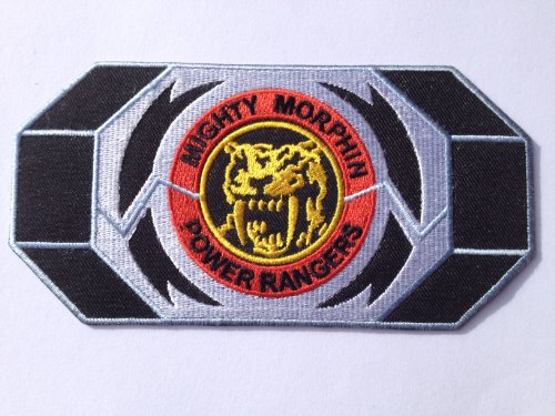 Mighty Morphin Power Rangers Sabre Tooth Tiger Iron on Patch (3