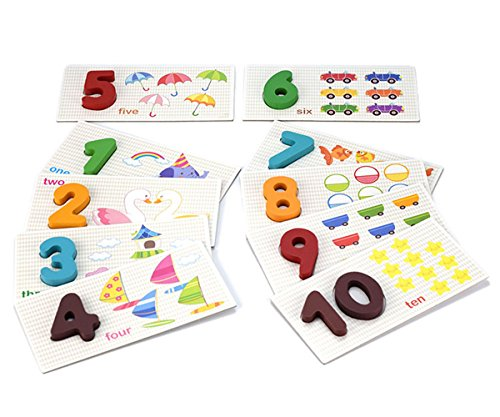 StarMall Montessori Numeral Cards Learn Numbers Counting Early Learning Tool for Preschool