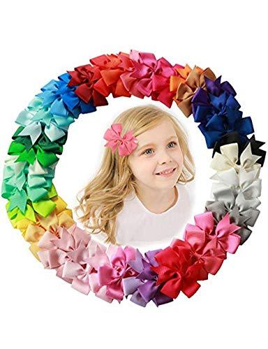 7fda151a1120a Kikole 10PCS Multi-colored Girls Ribbon Bow Hair Clip Hand-made Kids  Alligator Clips