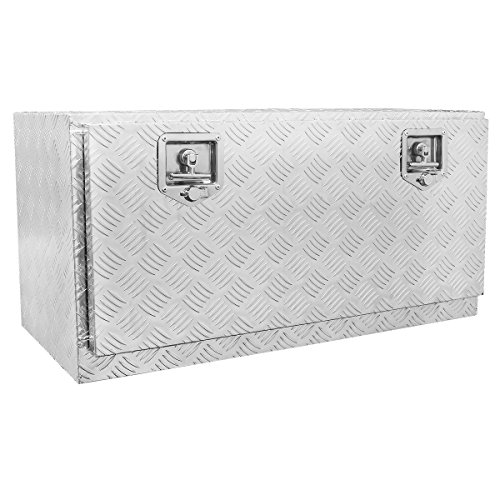 36-Inch Aluminum Truck Underbody Tool Box RV ATV Trailer Storage (Diamond Plate Storage Box)