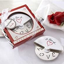 A Slice of Love Stainless-Steel Pizza Cutter in Miniature Pizza Box (pack of 30)