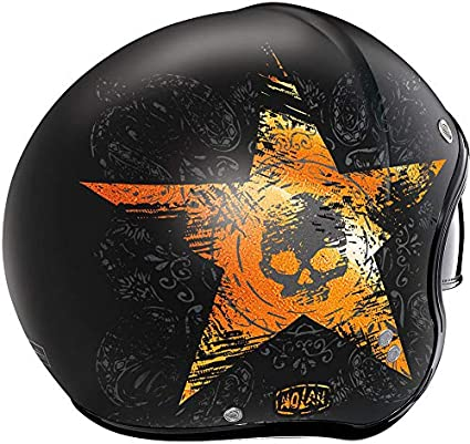 Nolan N21 Star Skull Jethelm Schwarz//Grau M 58