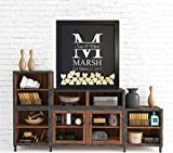 Drop Box Guest Book Frame with family initial. Guest Book Alternative
