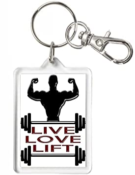 Entrenamiento con pesas llavero de regalo, Live Love Lift. Regalo para hombres que Love levantamiento pesas. Mancuernas de regalo: Amazon.es: Hogar