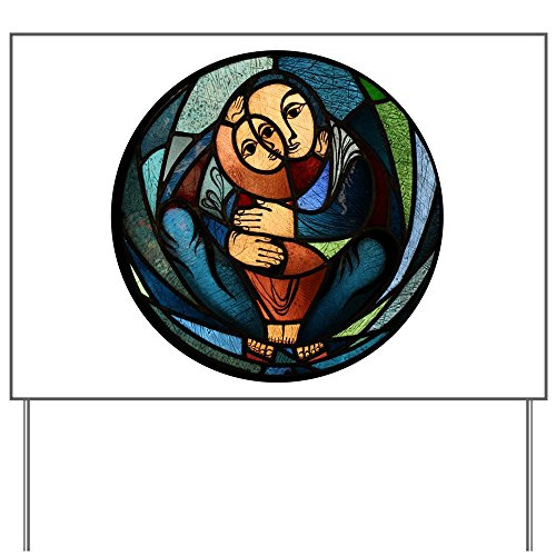 Stained Glass Yard Sign (Yard Sign Stained Glass Mother and Child)