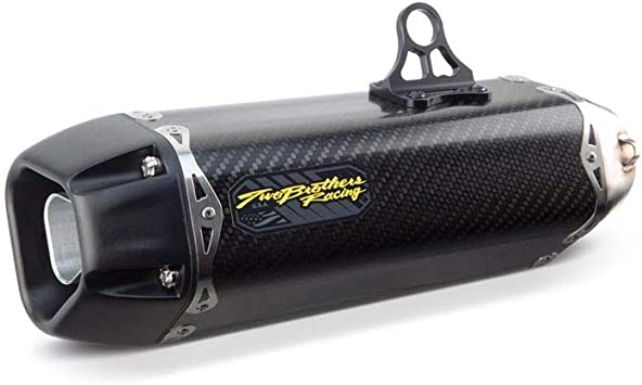 Two Brothers Racing 005-4020105-T Black Carbon Fiber Tarmac Full Exhaust System