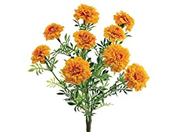Silk Plants Direct Marigold Bush (Pack of 6)