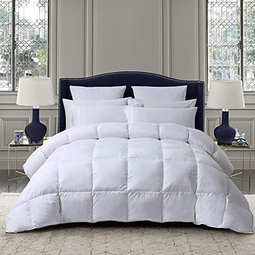 Sunyrisy Daunendecke 135x200 cm, Deluxe Komfort Gänsedaunen Bettdecke, Warm und Leicht, Weiß