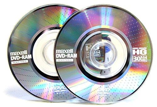 (100-Pack) Maxell Mini DVD-RAM Rewritable 30min High Grade 1.4GB HG30 8cm Disc