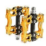Rockbros Mountain Bike Sealed Bearing Pedals 9/16 (Gold)