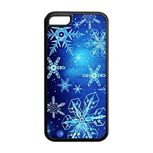 MMZ DIY PHONE CASETPU Case Cover for ipod touch 5 Strong Protect Case Cute Christmas Snowflake Design Case Perfect as Christmas gift(2)