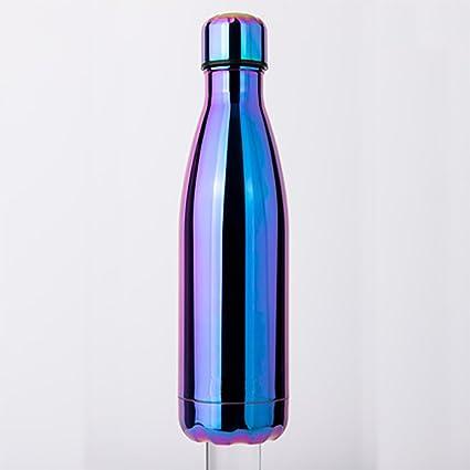 Electrochapado De Color Brillante Coque Botella Tetera, Acero Inoxidable Deportes Al Aire Libre Taza,