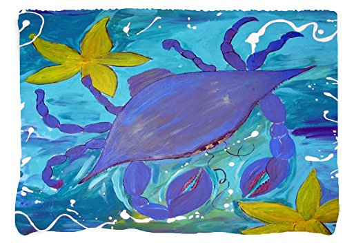 Blue Crab and Starfish Throw Blanket From Art (90x90)