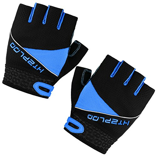 Cycling Gloves Mountain Bike Gloves Bicycle Riding Gloves Anti-slip Shock-absorbing Pad Breathable Half Finger Biking Gloves Outdoor Sports Gloves Men/Women H-002