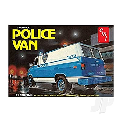 AMT AMT1123 1:25 NYPD Chevy Police Van, Multi: Toys & Games