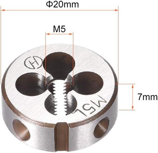 High Speed Steel sourcing map M20 M20x2.5 Pitch Metric Left Hand Round Die Machine Thread Die,Threading Die,Screw Die Tool,HSS
