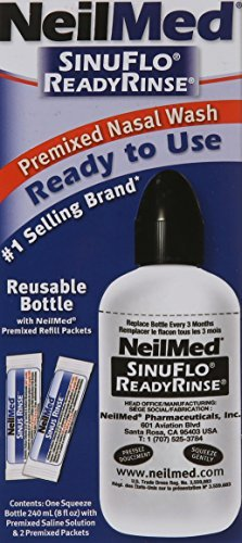 Neil Med SinuFlo Ready Rinse, 8 ounces Bottle (Pack of 3) (Sinuflo Rinse Neilmed Ready)