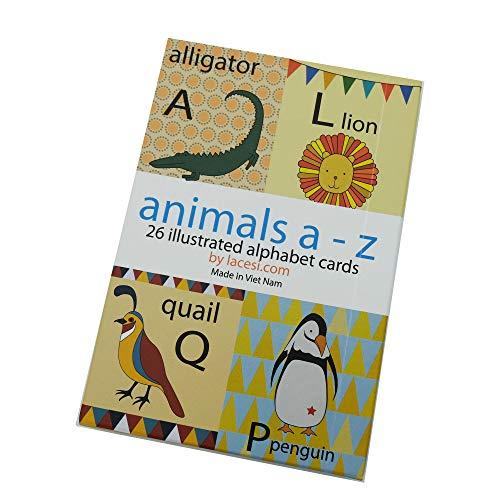 - Animal Alphabet Card Set, Nursery Wall Cards, Animal Alphabet Flash Cards, Alphabet Fine Art Prints, ABC Cards