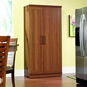 Sauder Home Plus Storage Cabinet with Sienna Oak Finish