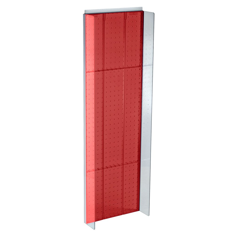 Azar 700350-RED Pegboard Powerwing Display 13.75-Inch Wide by 44-Inch High, Red Translucent Color