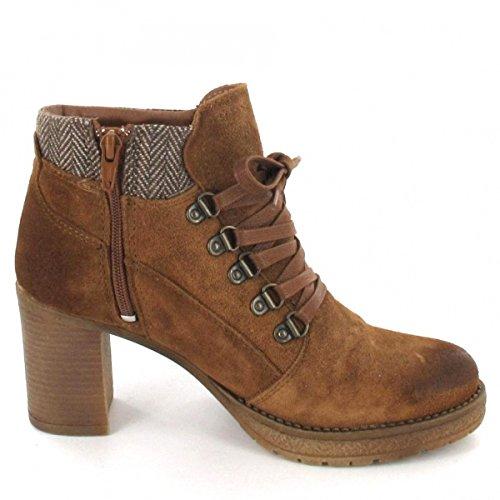 7044 Marco Tozzi Leder Stiefelette Boots cognac Braun - liv-stuck ... e3fcc08752